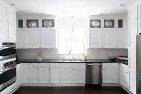 white kitchen cabinets with black countertops transitional for countertop designs 25