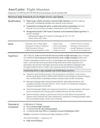 Certified Safety Professional Resume Flight Attendant Resume Sample