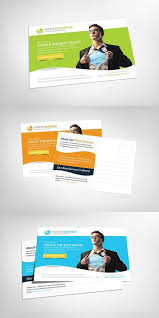 Postcard Collage Template Parallax Modern Corporate Postcard Best Card Templates