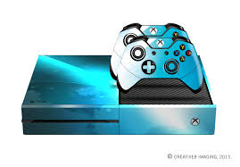 Xbox One White Light E Skins Xbox One Gaming Console Skin Blue Light Streak And