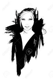 Beautiful Women Face Fashion Girls Illustration Young Woman