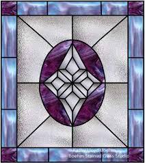 custom stained glass window for door insert