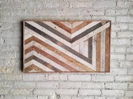 Reclaimed Wood Wall Art Reclaimed Wood Wall Art Wall Decor Abstract Chevron Geometric