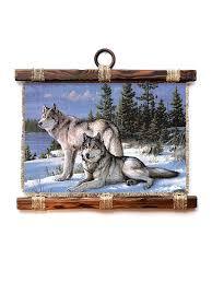 30% Универсальный свиток Декорация <b>настенная</b> Два волка, А4