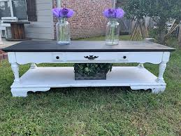 black white farmhouse coffee table
