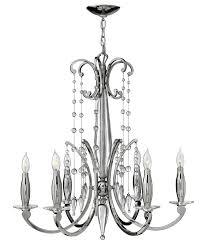 fredrick ramond 43626pni alexandra medium 6 light crystal candle chandelier light loading zoom