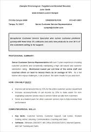 CV Sample Chronological Resume Template. Free Download