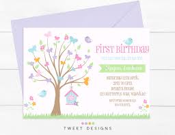 erfly invitation birthday invitation 1st birthday erfly garden invitation erflies and birds