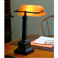 traditional bankers desk lamp amber gany bronze fresh green shade nz replacement