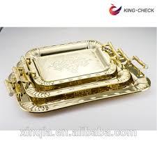 Decorative Metal Serving Trays Ramadan Kareem Catering Stainless Steel Trays Decorative Metal 25