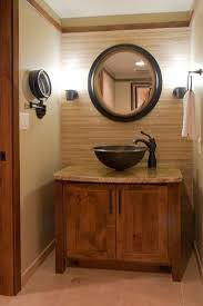 Eclectic Bathroom Classy Elevated Bathroom Vanity Tops For Various Cabinets Rustic Styled