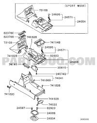 Mitsubishi parts diagram fresh console exterior myxcr6 v65w ge mitsubishi