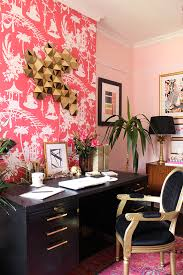 feature wall with wallpaper