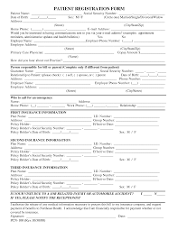 Free Patient Registration Form Template | Blank Medical Patient ...