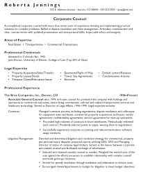 In House Counsel Resumes Best Associate Attorney Resume Sample
