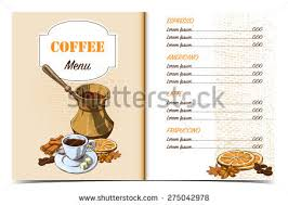 Cafe Menu Template Front Page Oldfashioned Stock Vector 275042978 ...