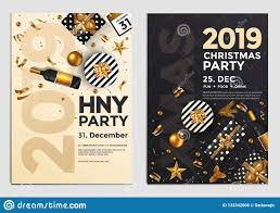 Christmas Party Flyer Design Golden Design 2019 4 Stock
