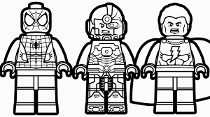 Lego Spiderman Coloring Pages Coloringsuite For Lego Spiderman