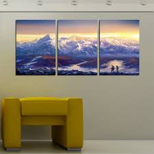 large canvas prints wall art 3 pieces scenery decorative picture painting continuous snow capped mountains pictures new unframed in painting calligraphy  on 3 piece wall art mountains with large canvas prints wall art 3 pieces scenery decorative picture