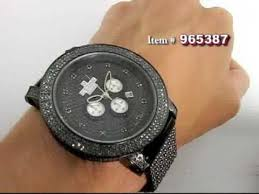 black diamond watches ice time crown mens watch 14ct black diamond watches ice time crown mens watch 14ct