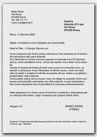 Lettera Di Presentazione Curriculum Vitae Esempio Di Lettera Di Presentazione