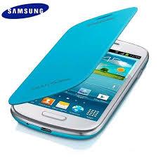 samsung galaxy s3 mini. genuine samsung galaxy s3 mini flip cover - light blue