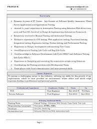 Prasad Selenium Web Driver Resume | Selenium (Software) | Online Banking