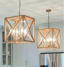 square wood chandelier square metal wood chandelier