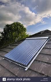 Roof Light Tubes Uk Solar Power Solar Vacuum Evacuated Tubes On A Domestic