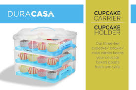 36 Cupcake Carrier Cool DuraCasa Cupcake Carrier Cupcake Holder Store Up To 60 Cupcakes Or