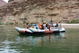boat seating while white water rafting in the grand canyon