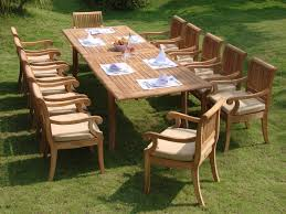 13 piece luxurious teak patio dining set