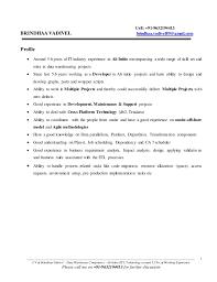 59 Best Teradata Resume Sample Template Free