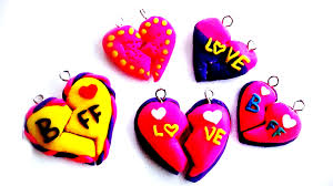 polymer clay tutorial f heart charm diy how to make heart friendship bracelet tutorial