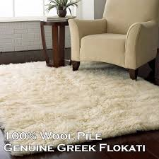 details about white traditional wool greek flokati rug five sizes free delivery aust wide
