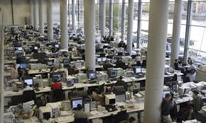 open floor office. A Number Of Spontaneous Activities Occur During The Workday That Require Need For Private Spaces Within An Open Floor Plan. People To Take Calls Office