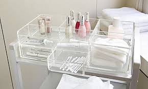 plastic makeup organizer put bathroom: view in gallery large clear makeup storagepng view in gallery