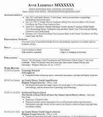 Church Genealogy Genealogy Research Resume Example Self Employed Mc Lean