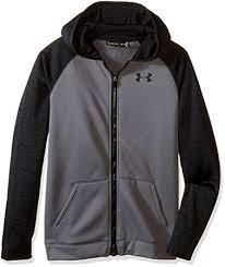 under armour youth hoodie. under armour boys\u0027 storm fleece full zip hoodie, graphite/black, youth hoodie