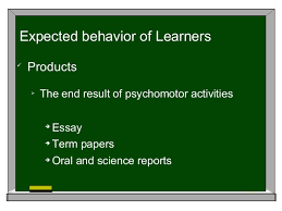 guiding principles for the assessment of student learning  behavior of learners 7