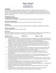 database developer resume
