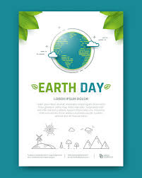 Earth Day Brochure Or Poster Template Design Stock Vector