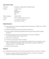 Curriculum Vitae Example Proposal Letter Samples Uk Template