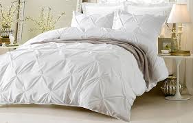 com 3pc pinch pleat design white duvet cover set style 1006 king california king cherry hill collection home kitchen