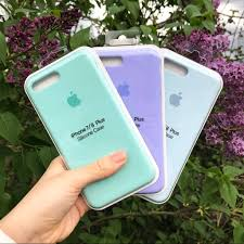 Light Blue Silicone Apple Case Iphone Silicone Case Sky Blue Lilac Case