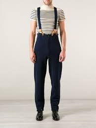 Taille trousers with suspenders front picture CLOTHES.