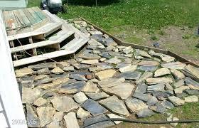diy stone patio