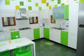 green white kitchen