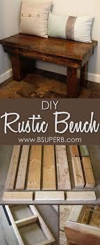 easy rustic entryway wooden bench diy project