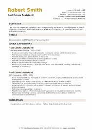 Real Estate Assistant Resume Samples Qwikresume